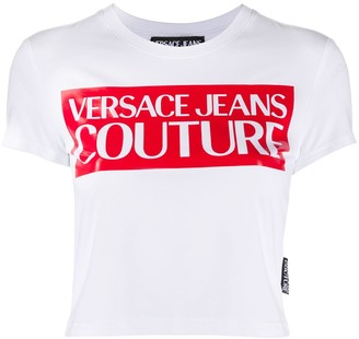 Versace logo-print slim-fit T-shirt