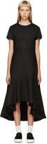 Edit Black Wool Flounce Dress