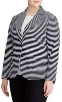 Lauren Ralph Lauren Plus Striped Knit Jacket