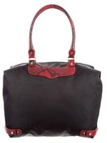 Rebecca Minkoff Embossed Leather Trimmed Travel Tote