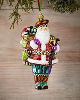 Mackenzie Childs MacKenzie-Childs Hole-In-One Santa Christmas Ornament