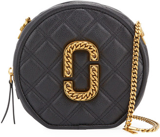 Marc Jacobs THE) Round Leather Crossbody Bag