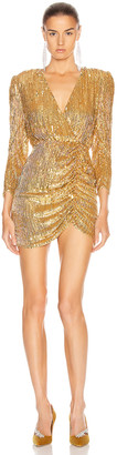retrofete for FWRD Stacey Dress in Gold | FWRD