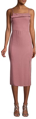 Vince Twist Front Camisole Flare Dress