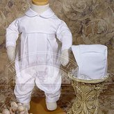 Little Things Mean a Lot Baby Boys Pleated Embroidery Shamrock Cluster Baptism Outfit Size 6M
