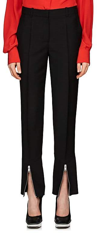 Givenchy Women's Mohair-Wool Gabardine Wide-Leg Trousers
