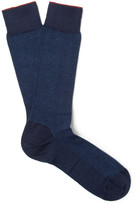 Ermenegildo Zegna - Herringbone Cotton-blend Socks