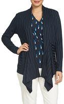 Chaus Nautical Breeze Rib Knit Cardigan