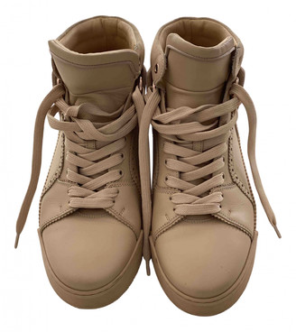 Christian Louboutin Camel Leather Trainers