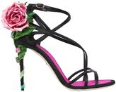 Dolce & Gabbana 105mm Keira Rose Satin Sandals