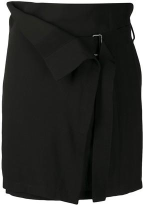 Ann Demeulemeester Paper-Bag Skirt