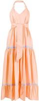 Santi Alessia halterneck flared maxi dress