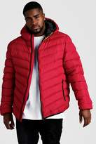Big & Tall Quilted Zip Jacket With Hood