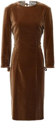 Acne Studios Bow-detailed Velvet Dress