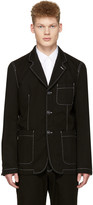 Comme des Garcons Black Workstitch Blazer