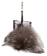 Adrienne Landau Fox Fur Bag Charm w/ Tags
