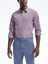 Banana Republic Camden-Fit Custom-Wash Gingham Shirt
