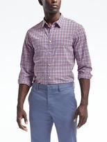 Banana Republic Grant Slim-Fit Custom-Wash Gingham Shirt