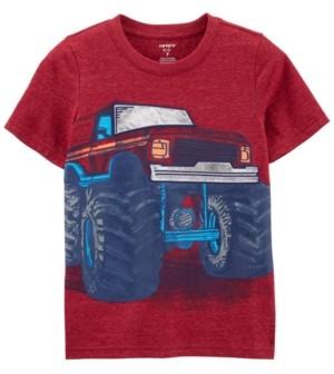 Carter's Little Boys Monster Truck Snow Yarn Tee