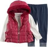 Little Lass Baby Girl Foil Faux Fur Vest