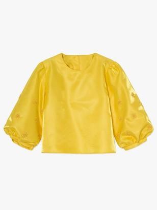 Resume - Anna Beaded Blouse Yellow - 38