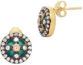 Freida Rothman Clover Cage Stud Earrings