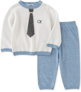 Calvin Klein 2-Pc. Tie Sweater & Jogger Pants Set, Baby Boys (0-24 months)