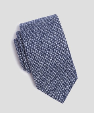Drakes Drake's Cashmere Textured Tie in Blue
