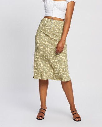 All About Eve Women's Green Midi Skirts - Blair Midi Skirt - Size One Size, 12 at The Iconic