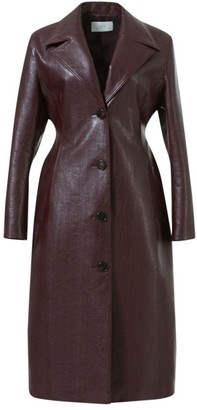 LVIR Faux-Leather Curved Coat