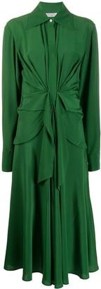 Victoria Beckham Tie-Waist Shirt Dress