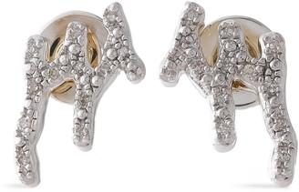 Monica Vinader Riva Waterfall Sterling Silver Diamond Earrings