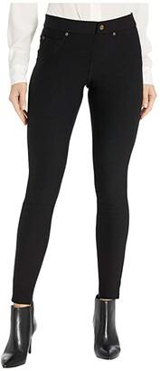 Hue Fleece Lined Denim Leggings (Black) Women's Jeans