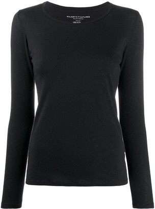 Majestic Filatures Long Sleeved Round-Neck Top