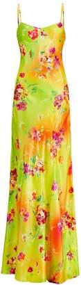 Ralph Lauren Evelyn Floral Silk Evening Gown