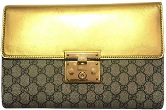 Gucci Padlock Gold Cloth Clutch bags