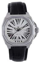 MeDusa Gio Monaco Men's 704-A Octagon White Dial Black Alligator Leather Watch