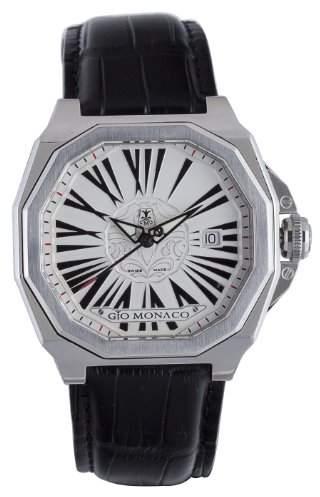 MeDusa Gio Monaco Men's 704-A Octagon Dial Black Alligator Leather Watch