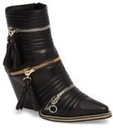 Jeffrey Campbell Women's Tenzin Chain Pointy Toe Boot