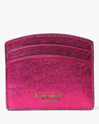 Kate Spade Spencer Metallic Card Holder - Pink