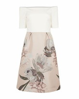 Ted Baker Cathiey Woodland Off The Shoulder Dress