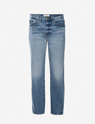 Frame Le Jane Glacier straight high-rise jeans