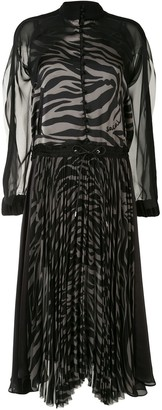 Sacai Sheer Overlay Shirt Dress