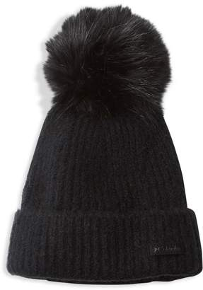 Columbia Winter Blur Faux Fur Pom-Pom Beanie