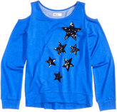 Epic Threads Hero Kids by Sequin Stars-Graphic Cold-Shoulder Sweatshirt, Big Girls (7-16), Created for Macy's
