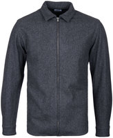 Edwin Industry Grey Marl Zip Through Overshirt