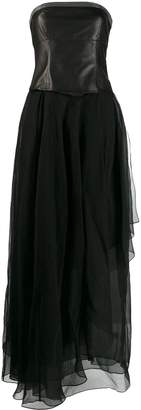 Brunello Cucinelli strapless fit and flare gown