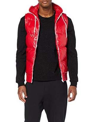 Urban Classic Men's Hooded Bubble Vest Outdoor Gilet,XL