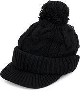 Yohji Yamamoto cable knit bobble hat