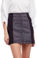 Free People Women's Colorblock Denim Miniskirt